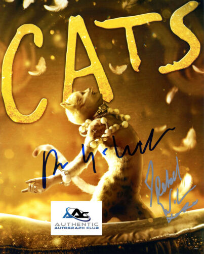 ANDREW LLOYD WEBBER AND REBEL WILSON AUTOGRAPH SIGNED 8x10 PHOTO CATS COA