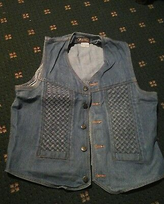 Vintage denim waistcoat