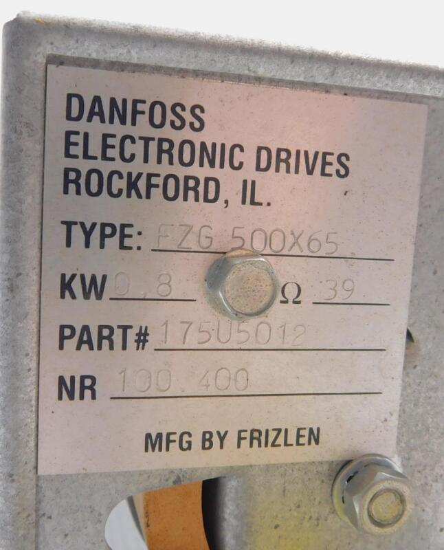 Dunfoss 175-U5012 FZG 500X65 0.8 KW Ω 39 By Frizlen Power Resistor