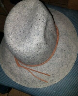 Grey Wool Hat (Merona Grey Brim Wool Fedora Rancher Hat [New With Tags] )