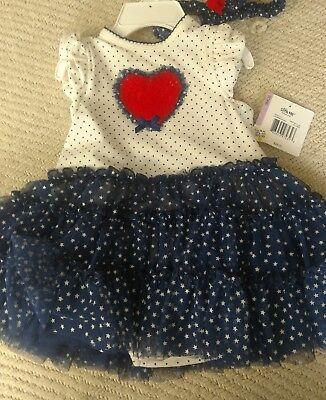 Red White Blue Tutu (Red White Blue Heart Star Tutu Dress)
