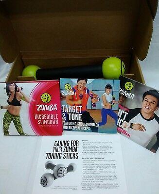 Zumba Fitness Total-body Cardio System 6 Dvds & Toning Sticks --new (Zumba Fitness Cardio)