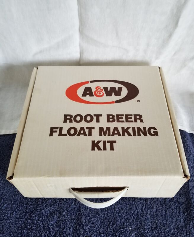 "A & W Root Beer Float Set;(2)6""Mugs,(2)Float Spoons (1)A &W Scoop"
