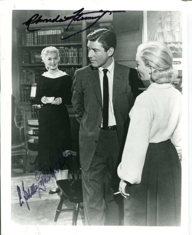Rhonda Fleming Actress Efrem Zimbalist Jr Actor Autograph Signed Photo