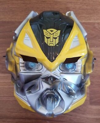 Transformers Yellow Hasbro Disguise Costume Mask Halloween Plastic Stretch Kids - Girl Transformer Halloween Costume