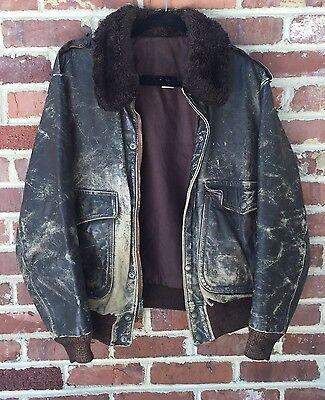 AMF HARLEY DAVIDSON Leather Jacket Vintage 1970s Flight Bomber Motorcycle Biker