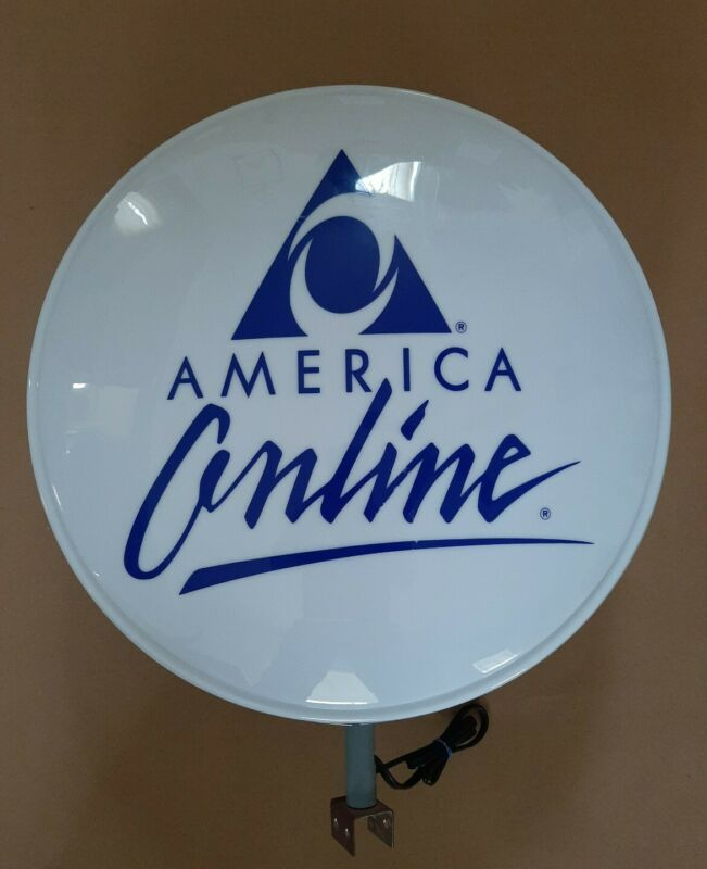 RARE AOL America Online Double-Sided Lighted Store Sign Display 1990