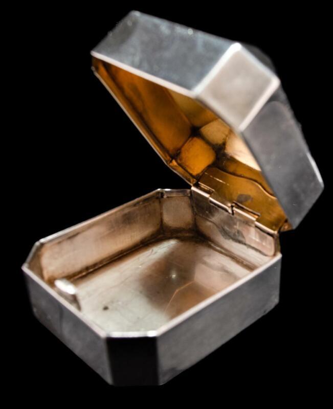 LARGE 1930's BIRKS STERLING SILVER & GILT RING BOX