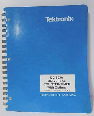 Tektronix Dc 503a Universal Countertimer With Options Instruction Manual