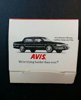 Avis Car Rental Golf Tees Marker Advertising Cadillac De Ville 1991 Vintage