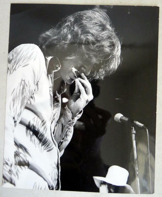 Original 1970s Ray Davies Performance Press Photo by Brian O