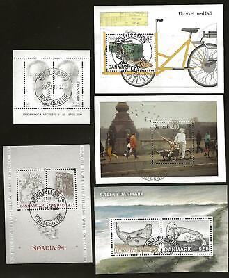 Denmark - 5 Nice Sheets - Postally Used