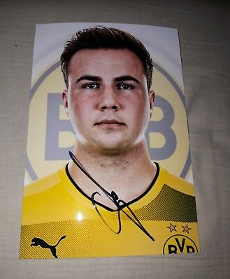 Signiertes Foto Mario Götze DFB Borussia Dortmund  NEU