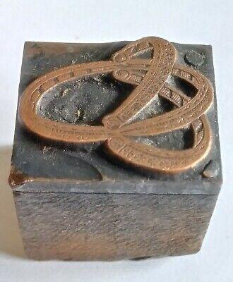 Letterpress Printing Printer Block Wood Copper Metal Type Spurs Western