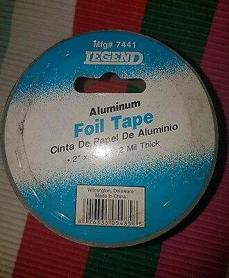 Legend Aluminum Foil Tape Silver 2 X 10 Yds 2mil New