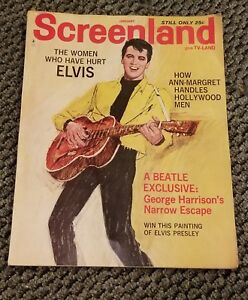 SCREENLAND PLUS TV LAND VINTAGE MAGAZINE JAN, 1965 ELVIS, ANN MARGARET, BEATLES