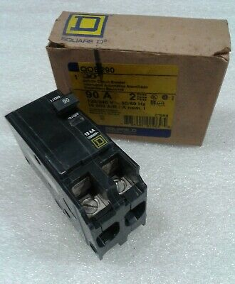 Qob290 Square D Circuit Breaker 90amp 2pole 240v New In Box
