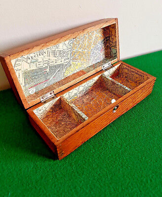 Vintage Oak Trinket Box,  By Wheeler & Wilson Sewing Machines