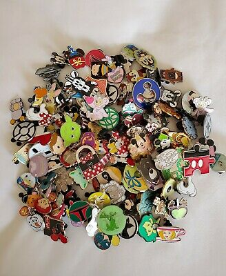 NEW DISNEY TRADING PINS 50 LOT, NO DOUBLES, HIDDEN MICKEY Free Priority Shipping