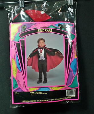 California Costume Toddler Size Lined Dracula Vampire Cape With Collar - Toddler Vampire Cape