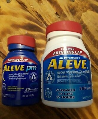 ALEVE Easy Open Arthritis Cap 220 mg, 200 tabs, Aleve PM 220 mg, 80 caps