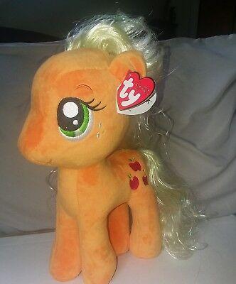 "TY Sparkle Beanie Buddies Collection Applejack 2017 My Little Pony 11"" Plush"