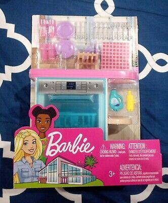 Barbie Estate Indoor Furniture Set Kitchen Dishwasher Dishes Accessory Kit - NEW