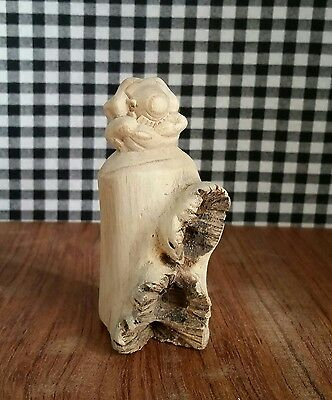 Parasite Wood Sculpture Meditating Yogi / Buddha, Weeping Praying Spiritual