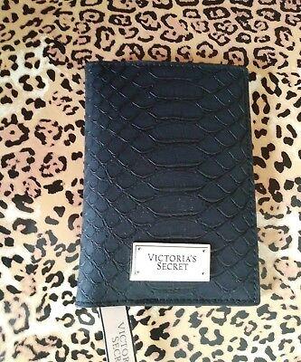 Victorias Secret Vs Passport Id Credit Cards Holder Black With Vs Gold Logo