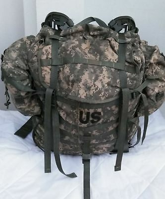 VGC US MILITARY ACU MOLLE LARGE RUCKSACK FIELD PACK  W FRAME /& POUCHES EXC