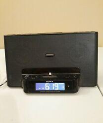 Sony Personal Audio System  Alarm Clock Radio iPhone iPod Dock w/remote
