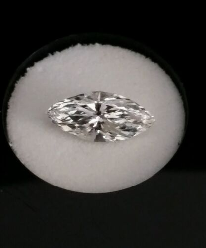 0.56 TCW GIA Certified Marquise Brilliant Diamond H Color VS1 Clarity