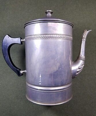 Antique Manning-Bowman Co MB Stainless Porcelain Lined Coffee Teapot Means Best