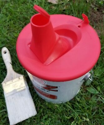 FOLDABLE Gallon PAINT CAN LID Spill Proof Leak Free Premium Spout Easy Fill Out for sale  Shipping to Canada