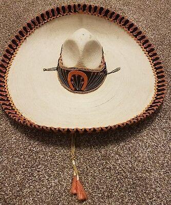 Conquistador Vintage Authentic Mexican Palm Leaf Sombrero Hat