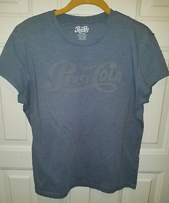 Pepsi Cola Distressed Vintage Logo Tee Shirt Blue