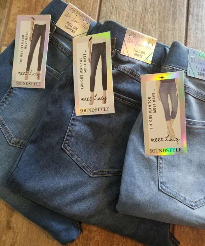 LUCY jean Leggings / Jegging pull on SOUND/STYLE High waist pants by Beau Dawson