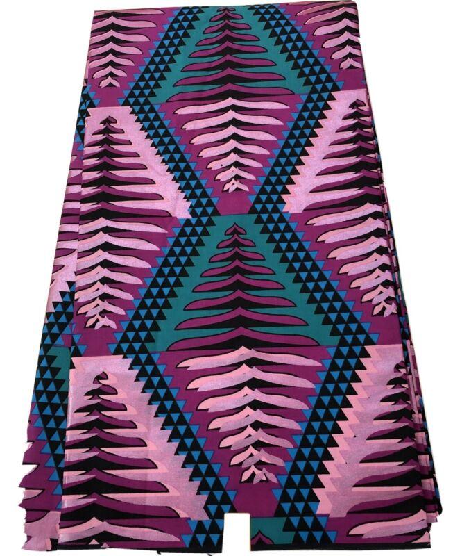 METALLIC  MAGENTA African Ankara Wax Print, 100% Cotton, Sell by 6 Yards