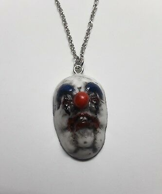 Horror Clown Necklace Handmade Pendant Circus Carnival Creepy Scary - Female Scary Clown