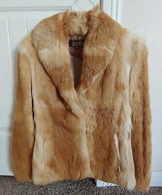 Vintage Dino Ricco Rabbit Fur Short Length Coat Size Medium Halloween Costume