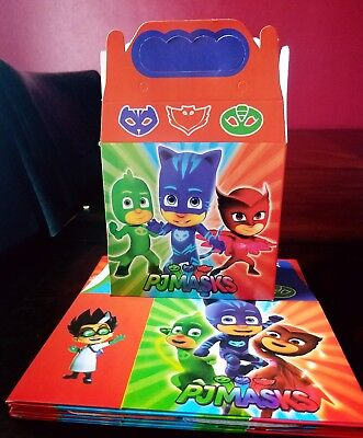 10 PJ Masks Party Favor Box Loot Bags Kids Birthday Party Supplies Treat Bags - Pj Party Supply