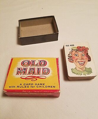 Vintage Old Maid Game Cards 1950s? Whitman Publishing 43 cards