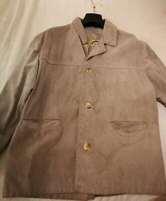 Giubbotto giacca in vera pelle da donna beige scamosciata leather factory  usato  Bragno