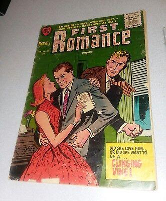 First Romance #38 comics 1956 vintage gga movie love stories Bob Powell Harvey