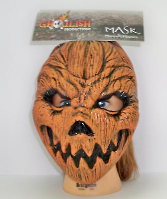 ADULT PUMPKIN HEAD LATEX FACE MASK HALLOWEEN COSTUME ACCESSORY TB22034 - Pumpkin Head Mask Halloween