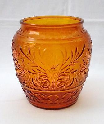 Vintage ANCHOR HOCKING Desert Gold Sandwich Glass Cookie Jar No Lid 1961-1964 ()
