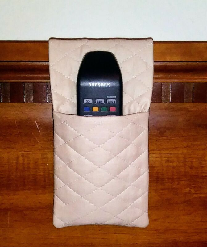 """TV Remote Control Bed Headboard Caddy Holder GREAT GIFT """"Remote-A-Way"""" NEW"""