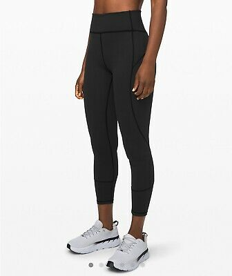 "Lululemon In Movement Tight 25"" Everlux SZ 4 BLACK *NWT*"