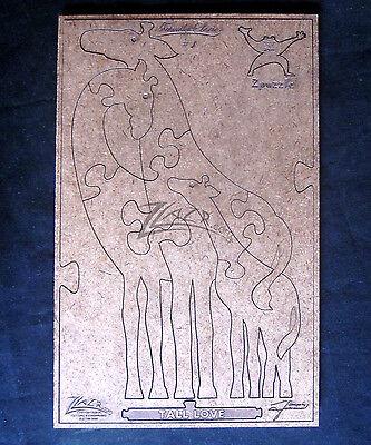 Jig Saw Puzzle Giraffe Animal Family Hard Board Wood Game Gift 1st Series Usa