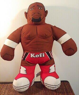 WWE WWF Brawlin' Buddies Talking Plush Kofi Kingston Action Figure Doll Mattel
